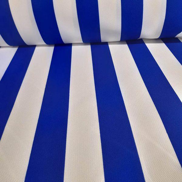 Loneta exterior rayas blancas y azul A000131