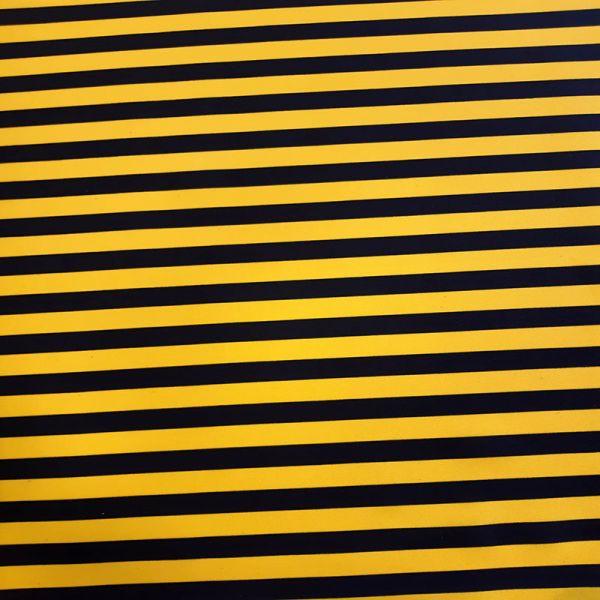 Tela bi strech rayas amarillas