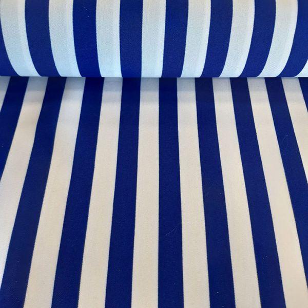 Tela bi strech rayas azul