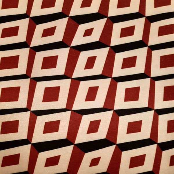 Saten strech Italiano geometrico T9327