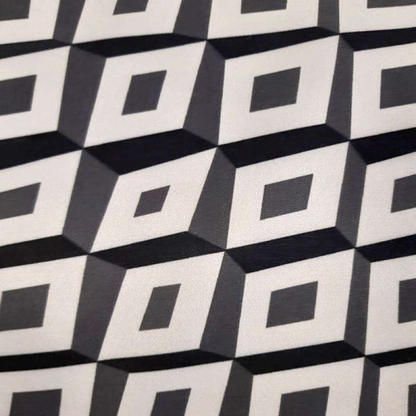 Saten strech Italiano geometrico  T9328